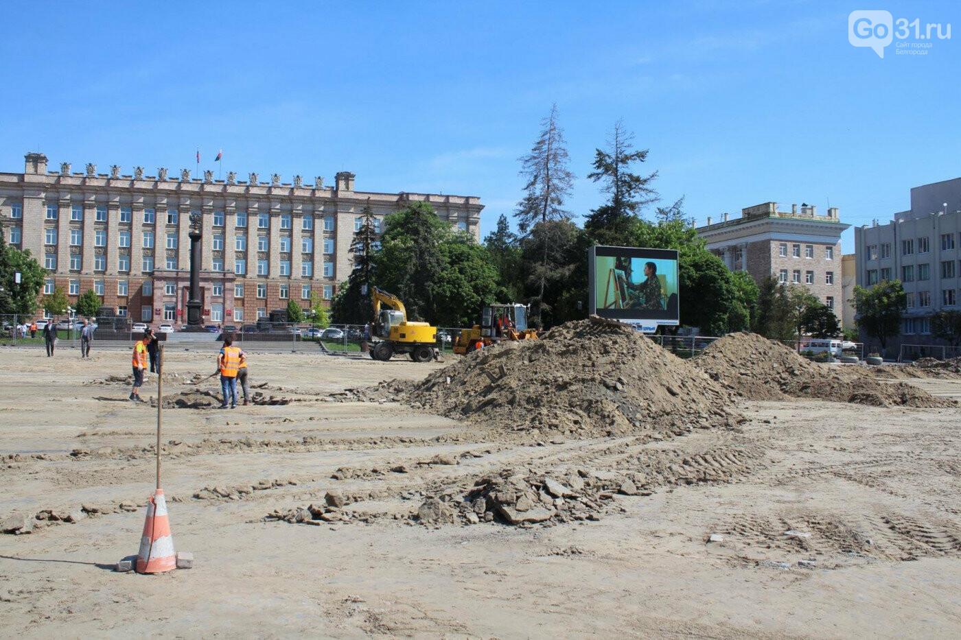 Брусчатку на Соборной площади Белгорода укладывали мигранты без трудовых патентов, фото-2