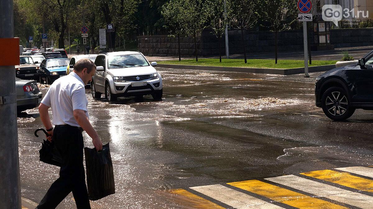 В Белгороде улицы после дождя превратились в Венецию, фото-10