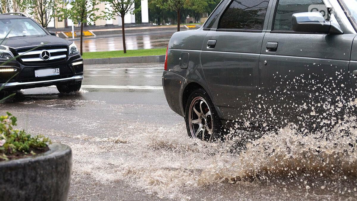 В Белгороде улицы после дождя превратились в Венецию, фото-2