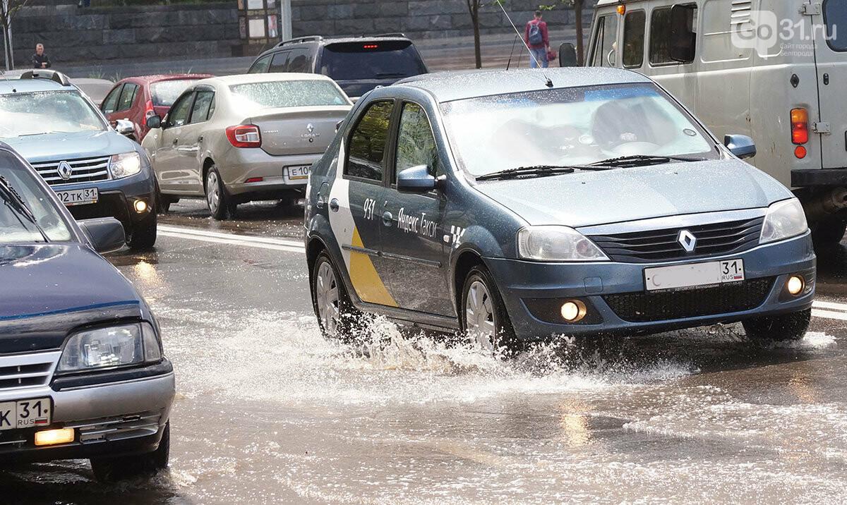 В Белгороде улицы после дождя превратились в Венецию, фото-6