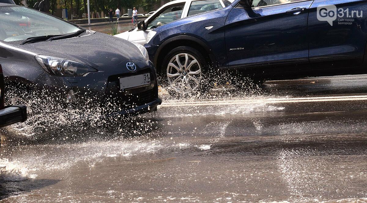 В Белгороде улицы после дождя превратились в Венецию, фото-9