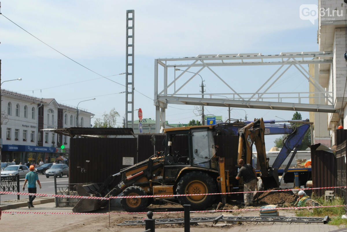 Началось строительство надземного перехода на Центральный рынок Белгорода, фото-1