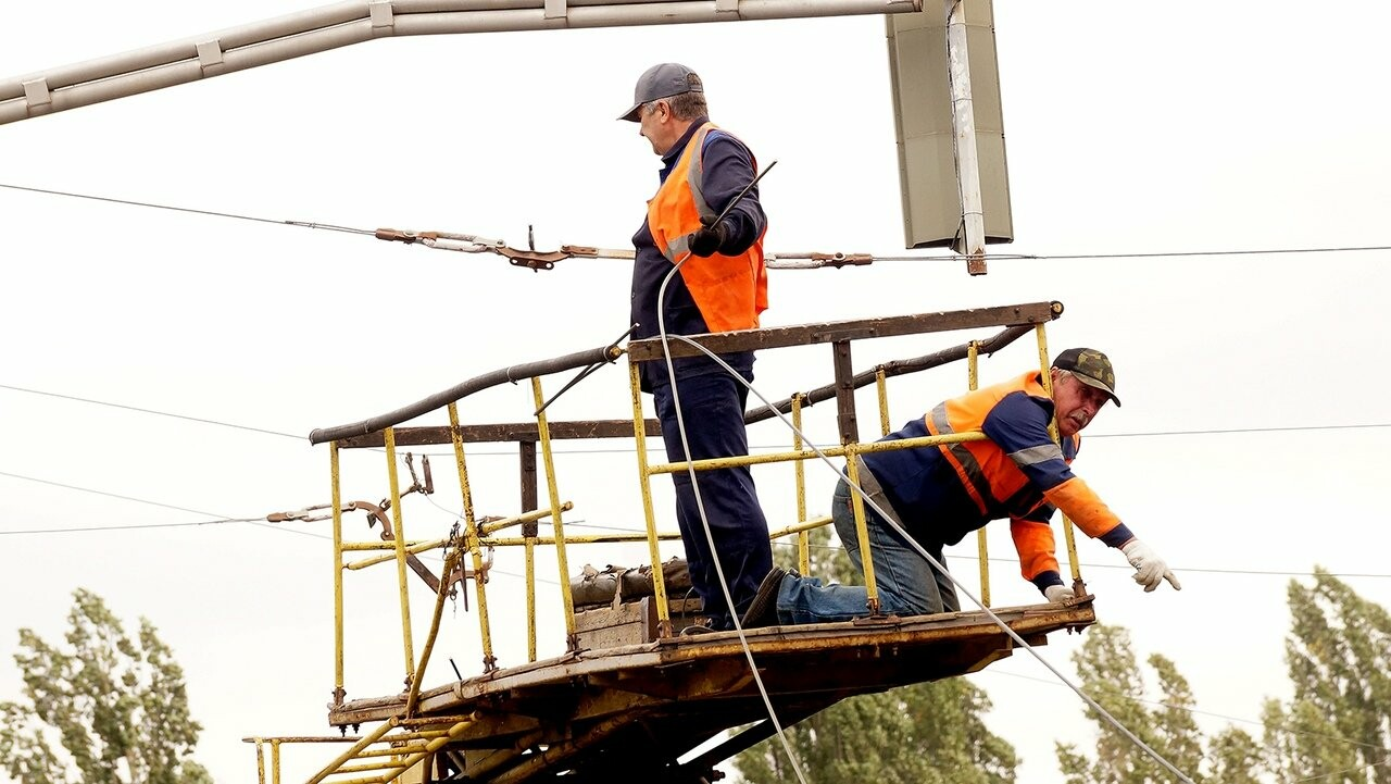 Строительство перекрёстка на «Спутнике» усложнило движение автомобилистам , фото-6