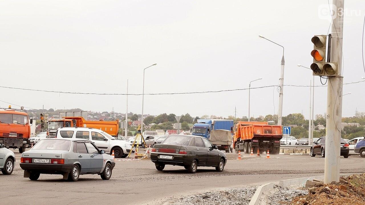 Строительство перекрёстка на «Спутнике» усложнило движение автомобилистам , фото-1