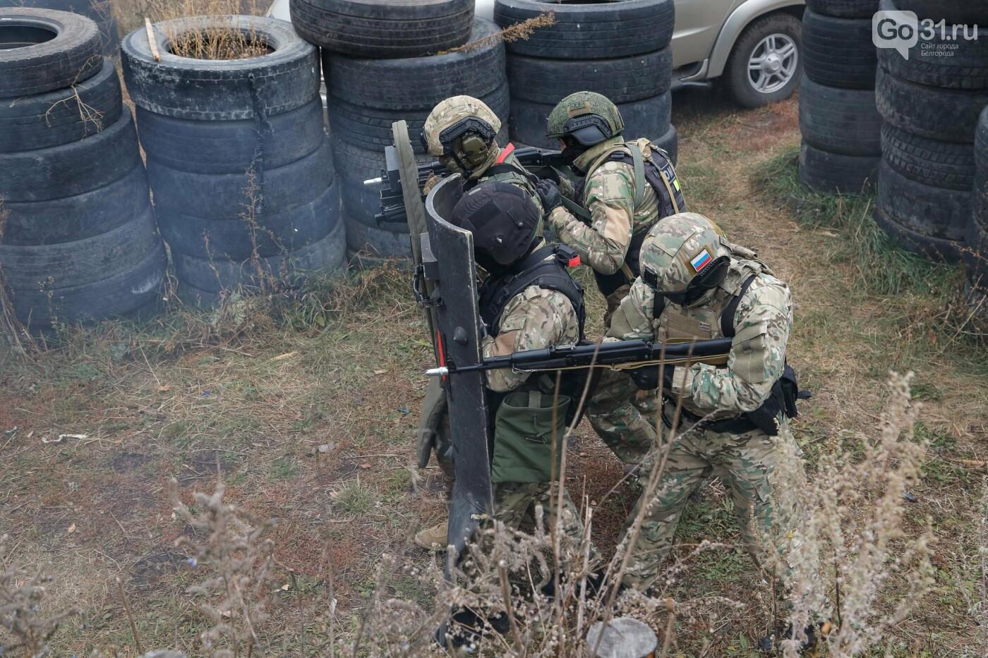 Под Белгородом прошли тактико-специальные учения ОМОНа, фото-18