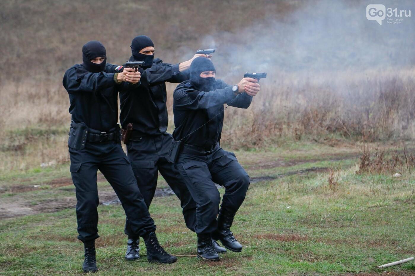 Под Белгородом прошли учения СОБРа, фото-25