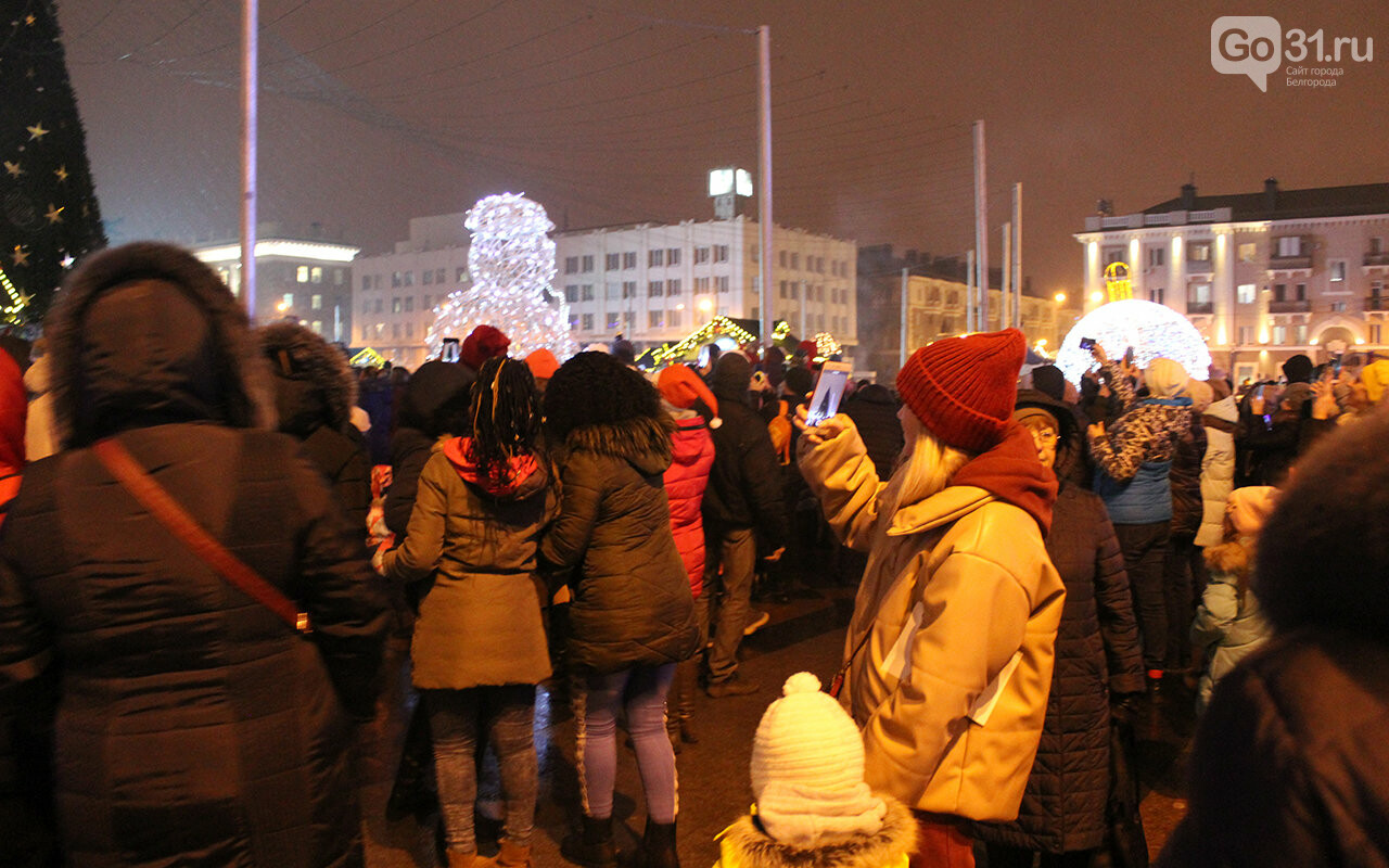 В Белгороде зажгли огни на главной ёлке города, фото-12
