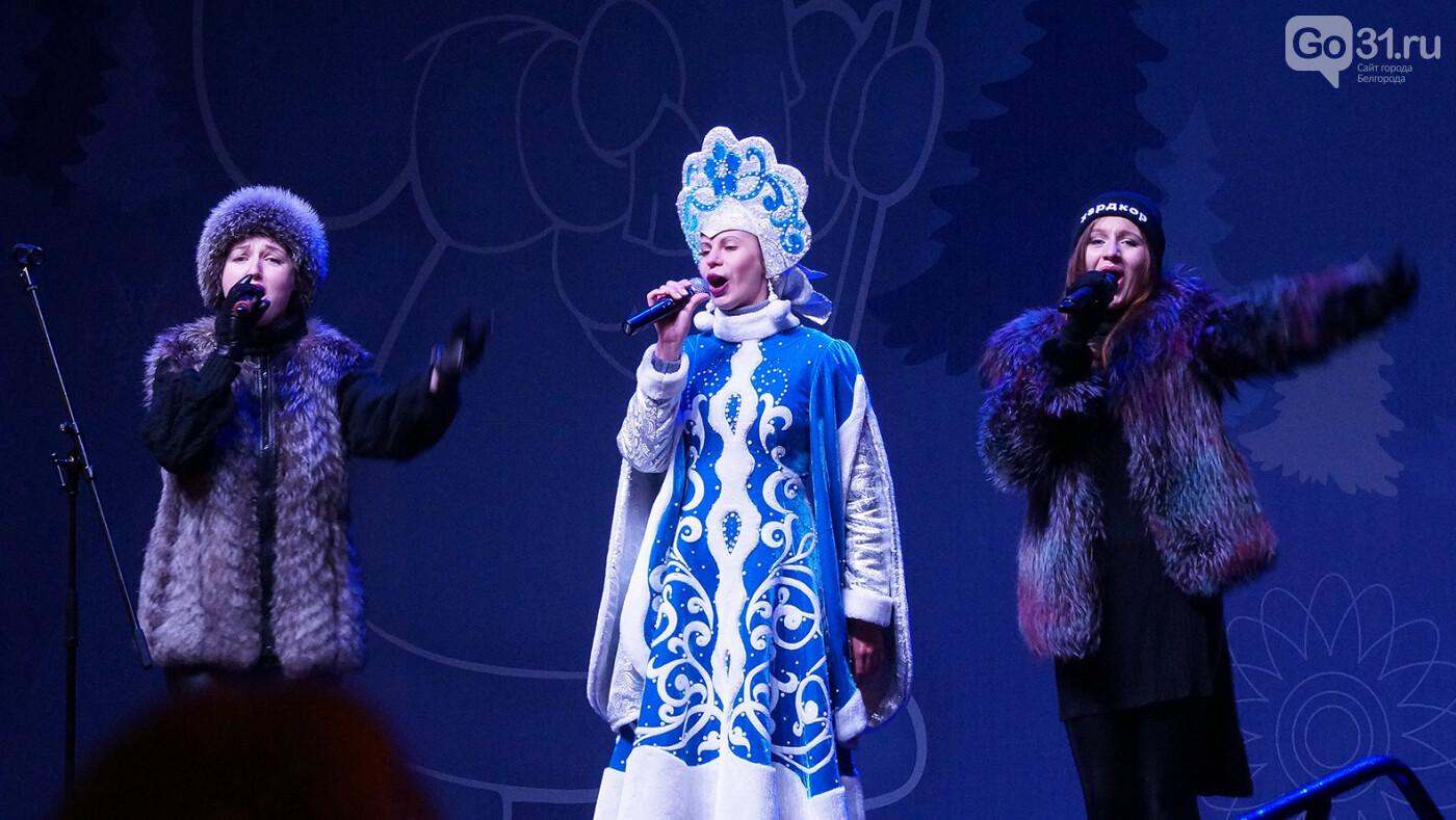 Белгород встретил 2020 год песнями и танцами на Соборной площади, фото-14