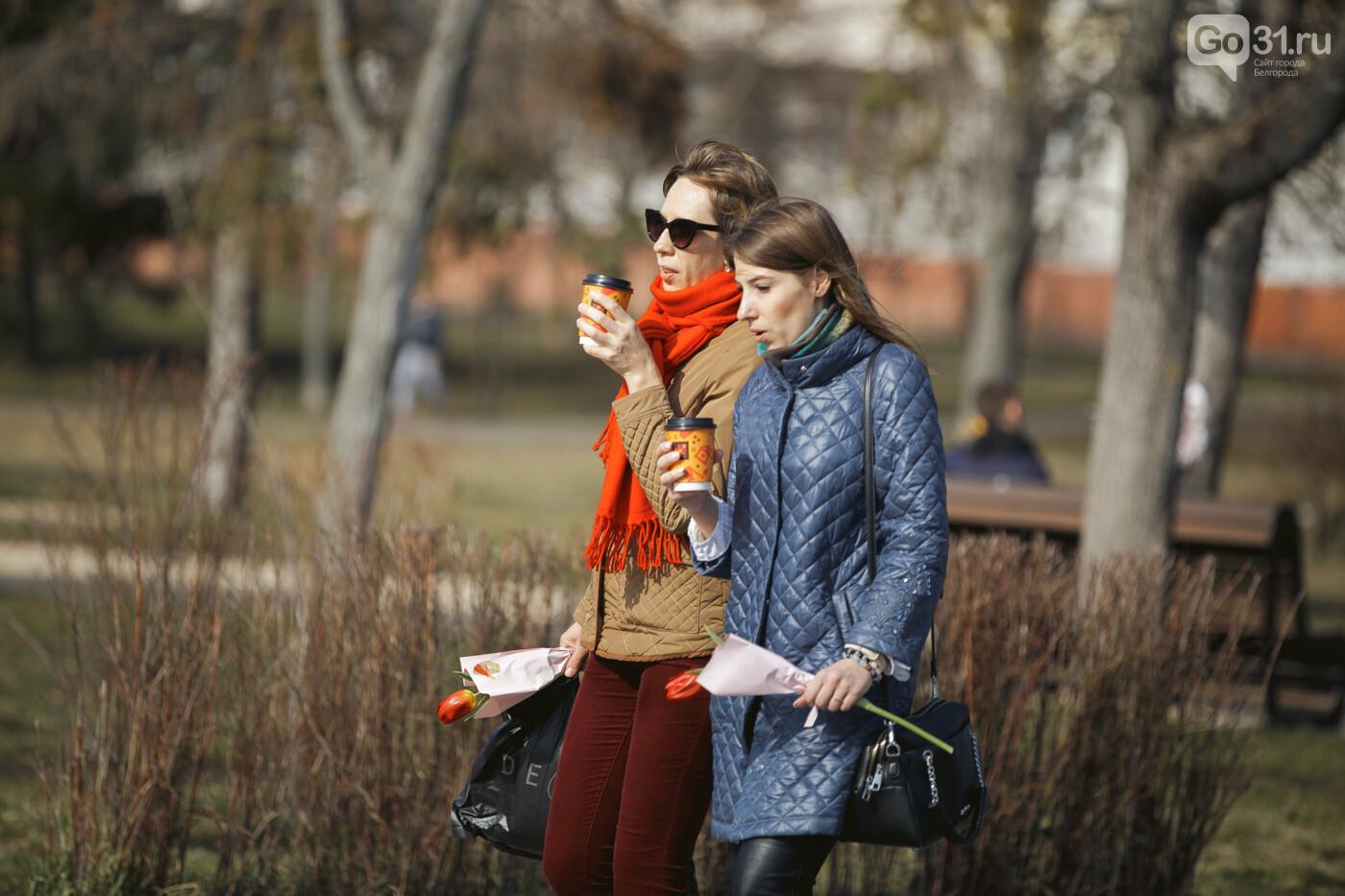 Дарить эмоции. Как белгородцы радовали дам цветами к 8 Марта, фото-19