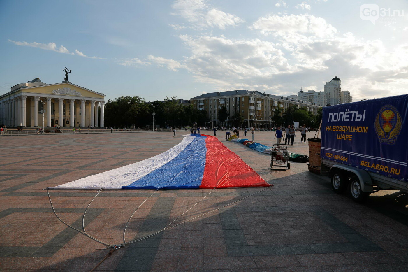 Над Белгородом пролетел аэростат с гигантским триколором, фото-11, Фото: Антон Вергун
