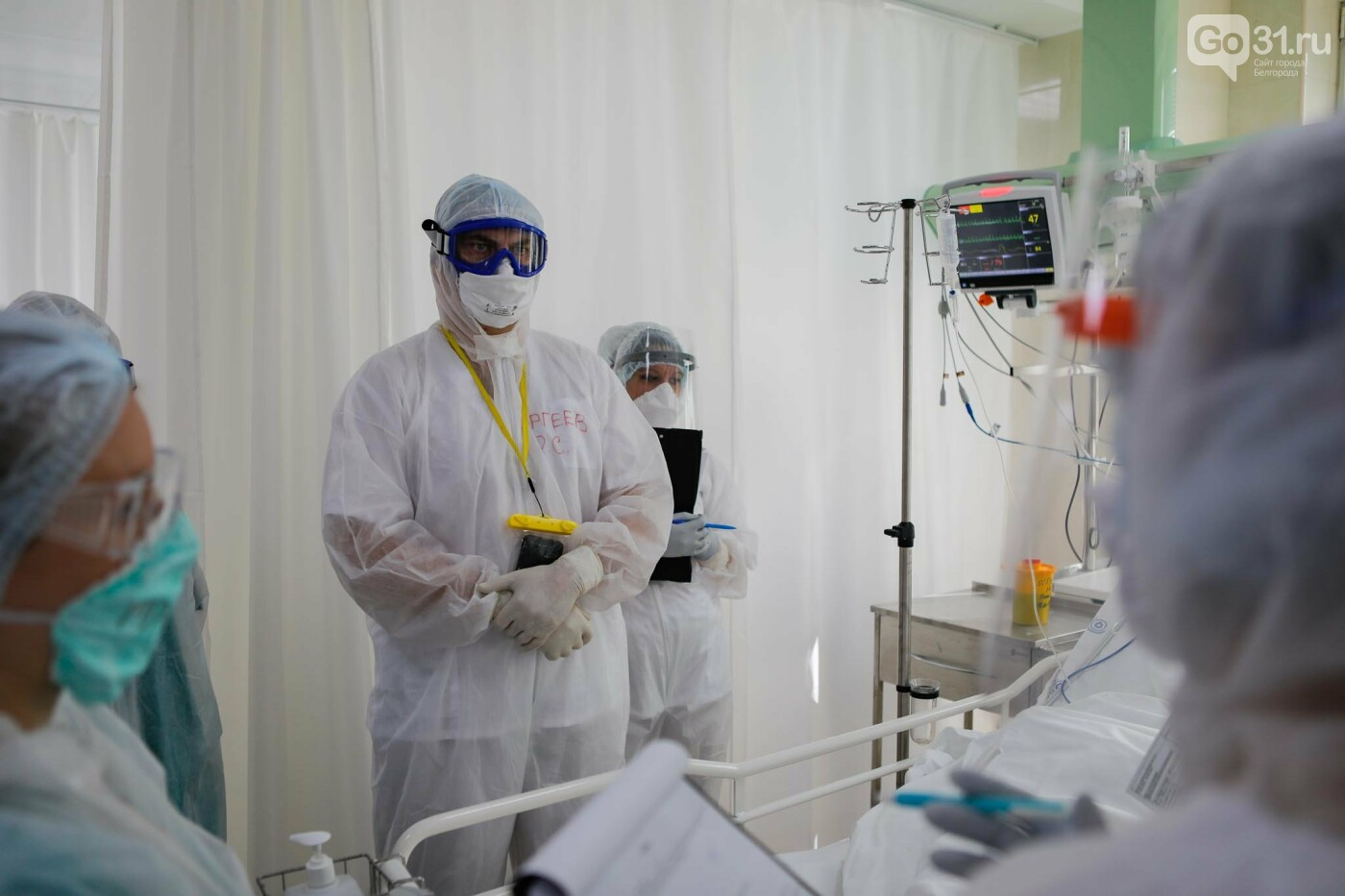 Что происходит в ковид-госпитале Белгорода. Фоторепортаж из «красной» зоны, фото-15, Фото: Антон Вергун
