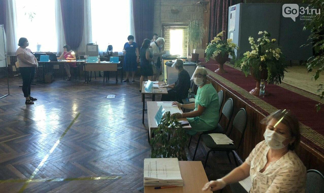 Агитация «ЕдРа», карандаши, контроль дистанции. Как проходит голосование в Белгороде, фото-2