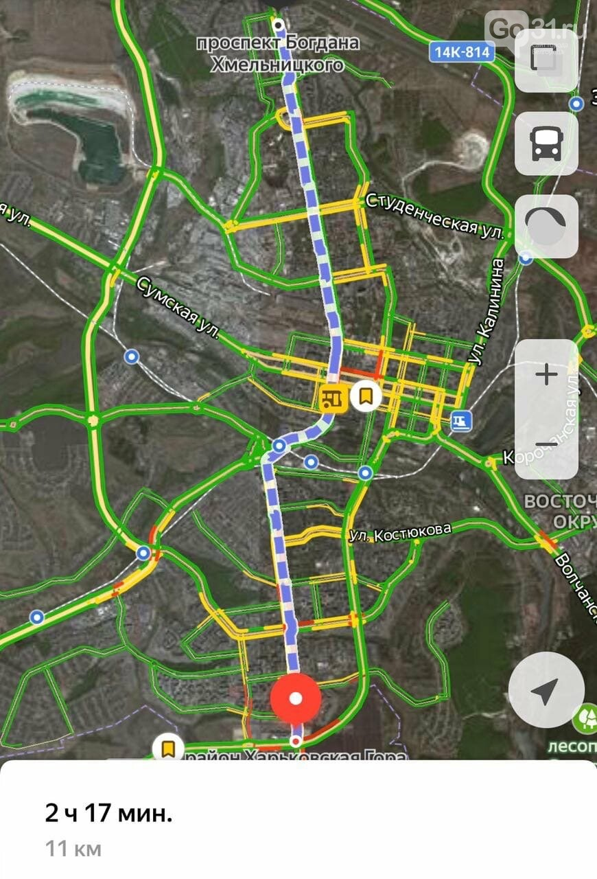 Планируемый маршрут предстоящей пробежки