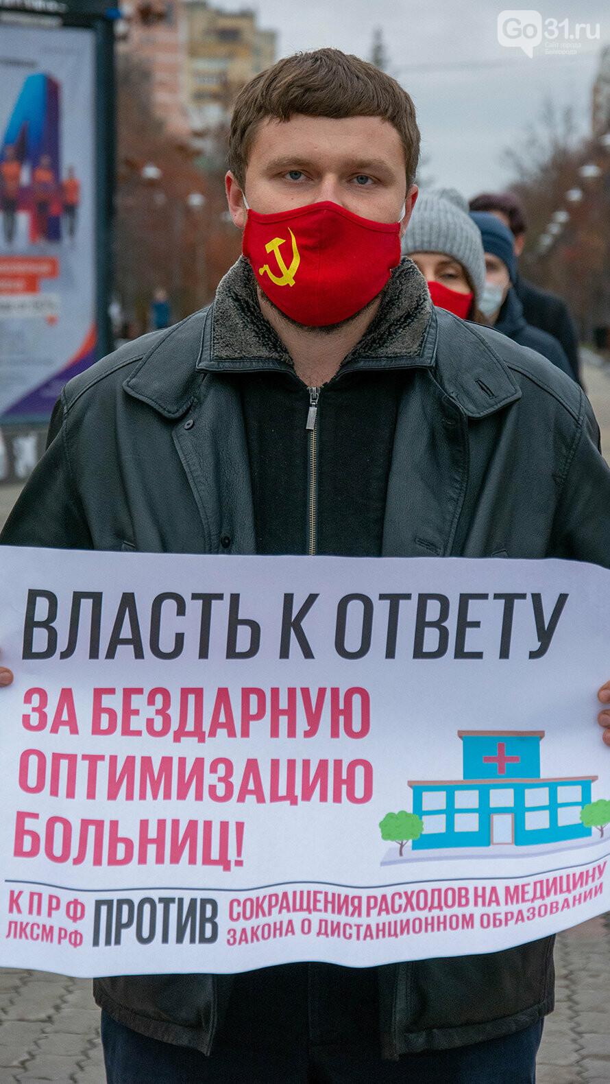 Пикеты против урезания бюджета на социалку в Белгороде, Фото: Александр Лобынцев