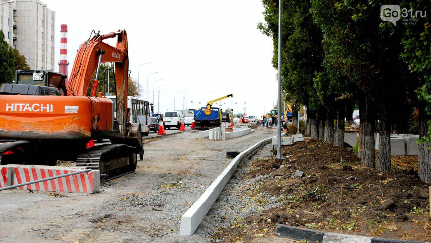 Реконструкция улицы Щорса в Белгороде, Фото: Сергей Кудрин