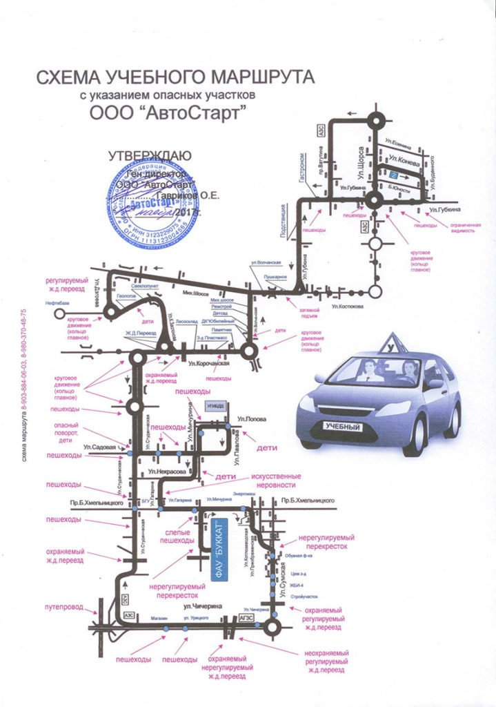 Схема учебного маршрута, фото-2