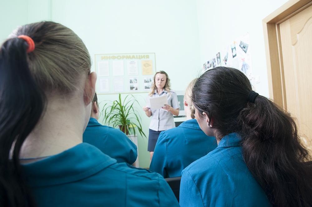 Осуждённые на уроке по подготовке к выходу из колонии. Фото Игоря Ермоленко