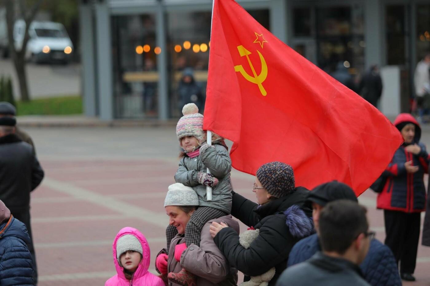 В парке Победы прошла демонстрация в честь 100-летия революции, фото-12