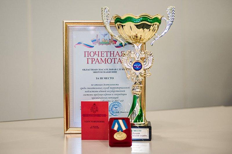 Директор филиала ПАО «МРСК Центра» - «Белгородэнерго» удостоен награды МЧС России, фото-1