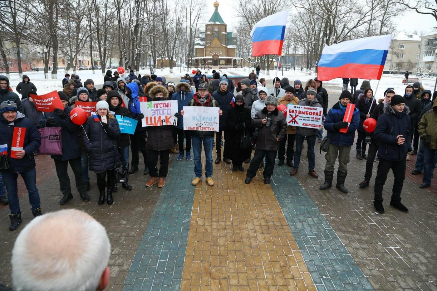 В Белгороде у Дома офицеров прошла «забастовка избирателей» — фоторепортаж, фото-16