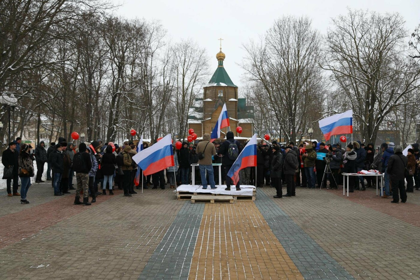 В Белгороде у Дома офицеров прошла «забастовка избирателей» — фоторепортаж, фото-17