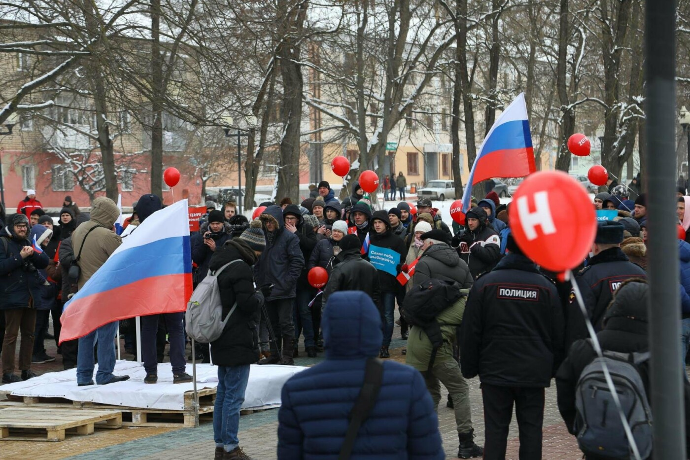 В Белгороде у Дома офицеров прошла «забастовка избирателей» — фоторепортаж, фото-14