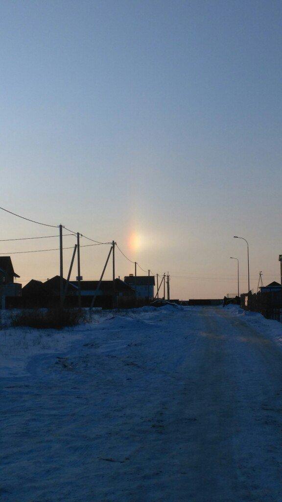 Два дня белгородцы наблюдали редкие природные явления — световой столб и ложное солнце, фото-6