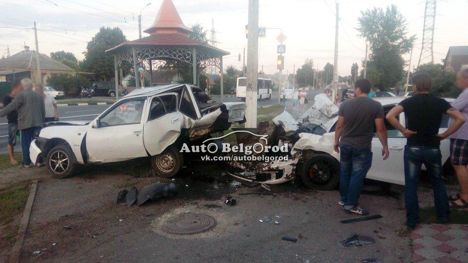 Пьяный белгородец на Volkswagen въехал в припаркованную Daewoo Nexia, фото-1