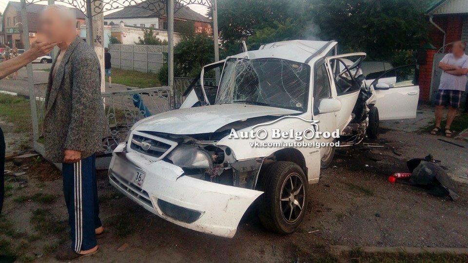 Пьяный белгородец на Volkswagen въехал в припаркованную Daewoo Nexia, фото-2