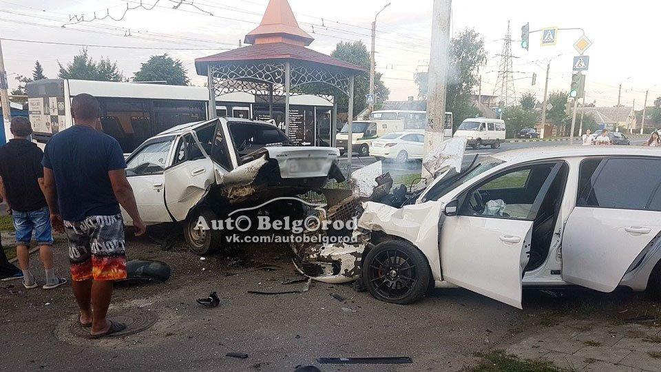 Пьяный белгородец на Volkswagen въехал в припаркованную Daewoo Nexia, фото-3