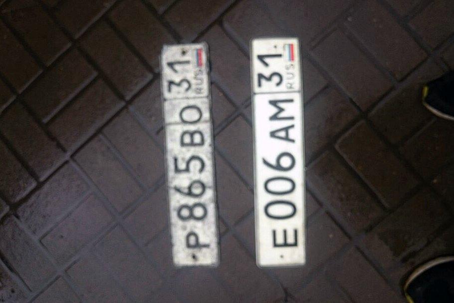 Из-за непогоды белгородские автомобилисты теряют номерные знаки, фото-1