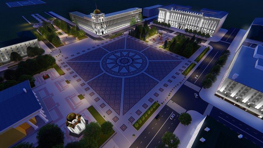Ко Дню города после реконструкции на Соборной площади появится подсветка, фото-4