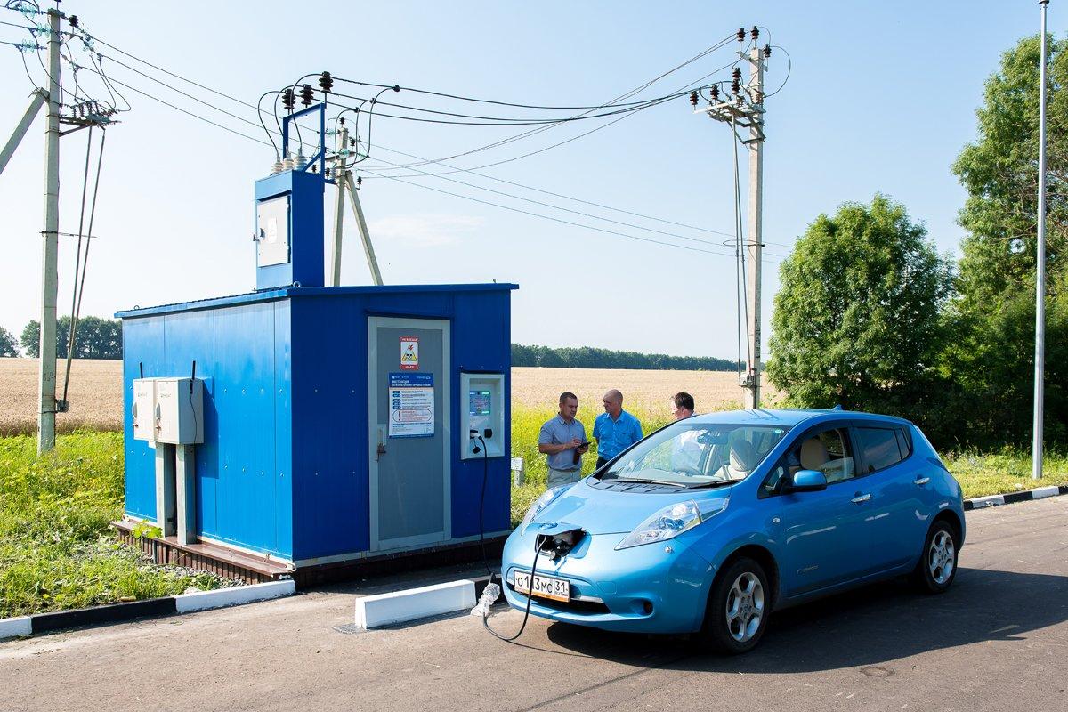 На белгородской трассе заработали зарядные станции для электромобилей, фото-5