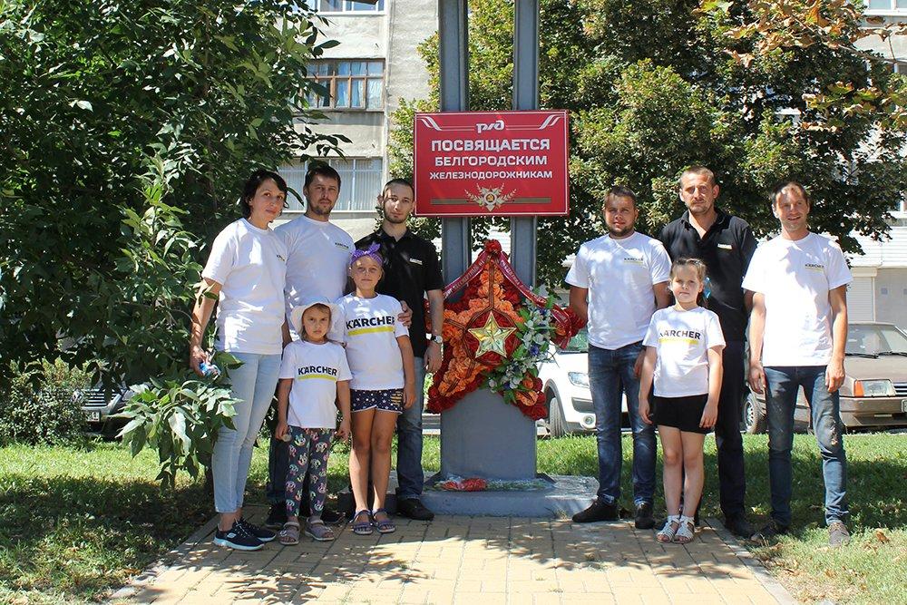 В Белгороде специалисты Керхер Центра очистили паровоз-музей РЖД, фото-9
