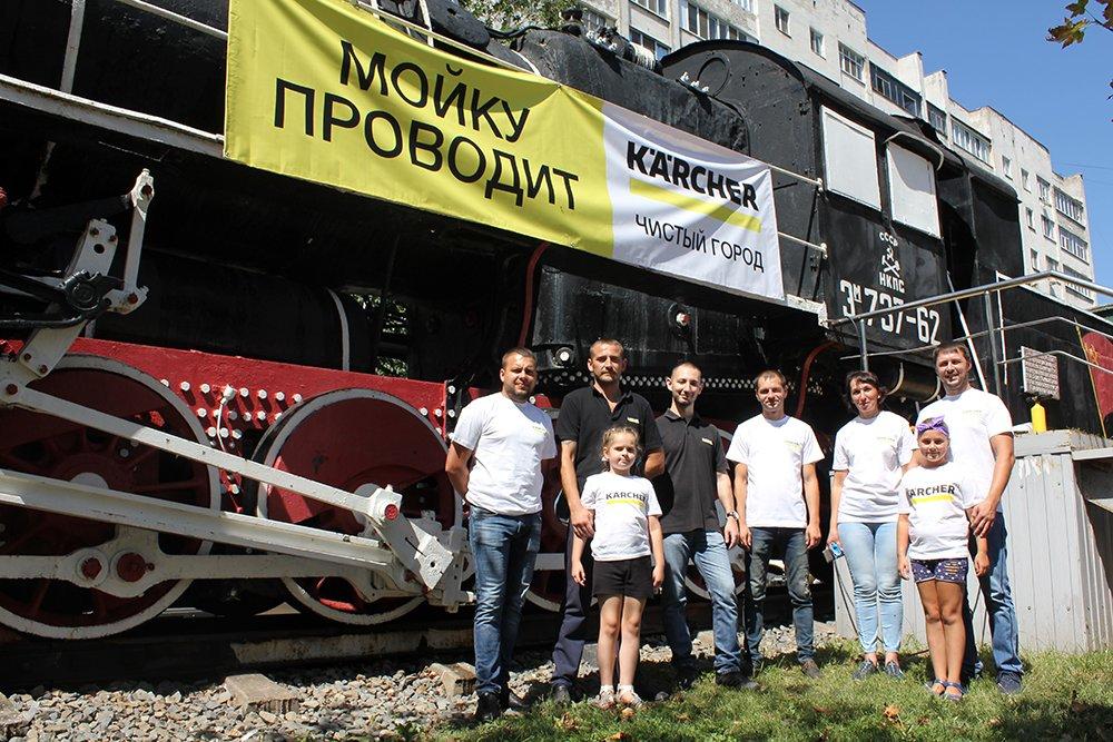 В Белгороде специалисты Керхер Центра очистили паровоз-музей РЖД, фото-8