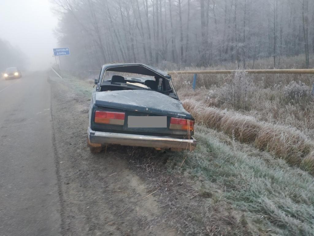 Под Белгородом перевернулся водитель ВАЗа , фото-1