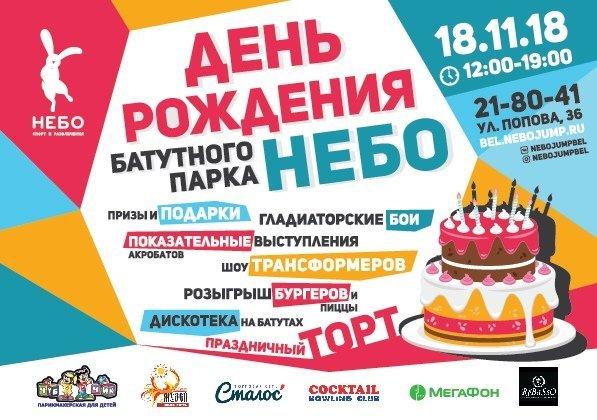 В Белгороде отпразднуют первый День рождения батутного центра «Небо», фото-1