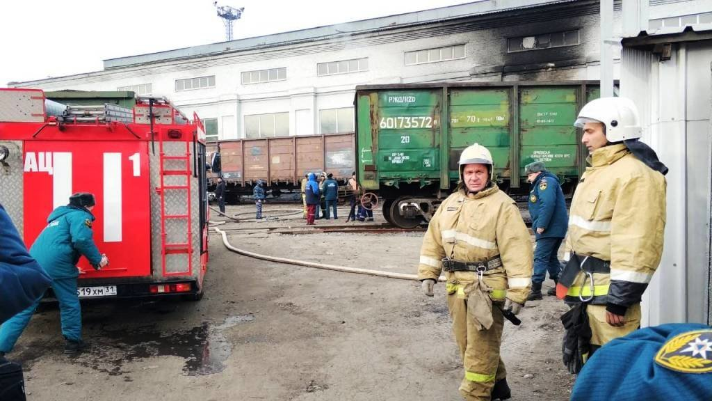 В Белгороде на ЖД вокзале загорелся вагон [обновлено], фото-5