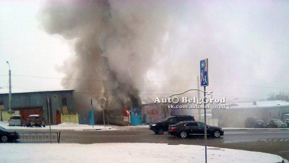 В Белгороде горит склад на улице Магистральной , фото-2
