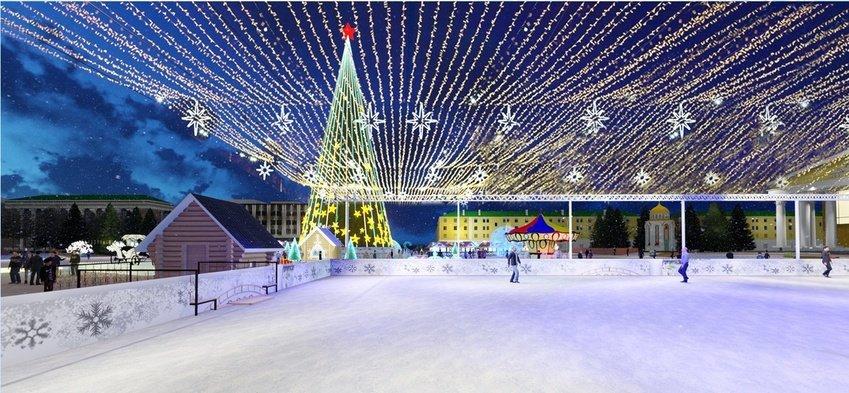 Соборную площадь Белгорода к Новому году украсит «звёздное небо», фото-1