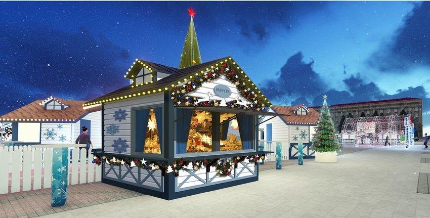 Соборную площадь Белгорода к Новому году украсит «звёздное небо», фото-3