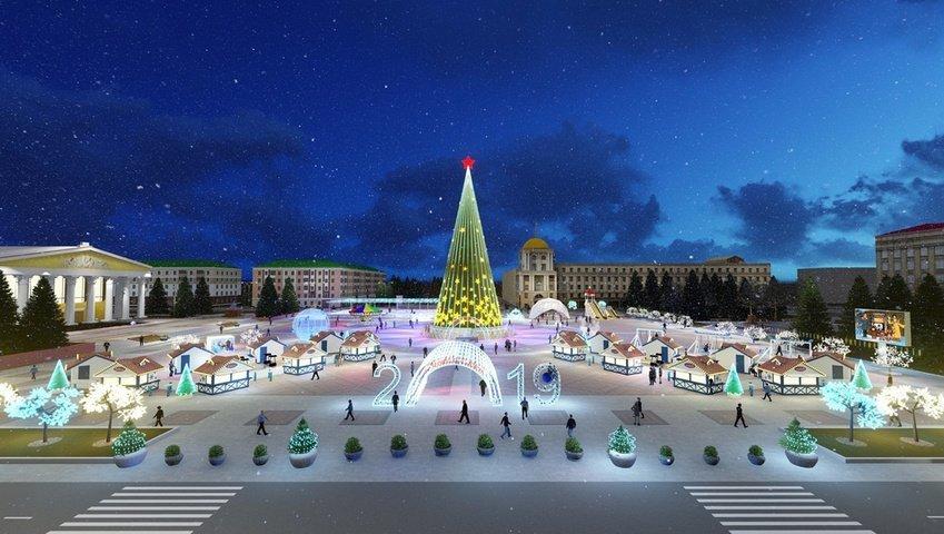 Соборную площадь Белгорода к Новому году украсит «звёздное небо», фото-2