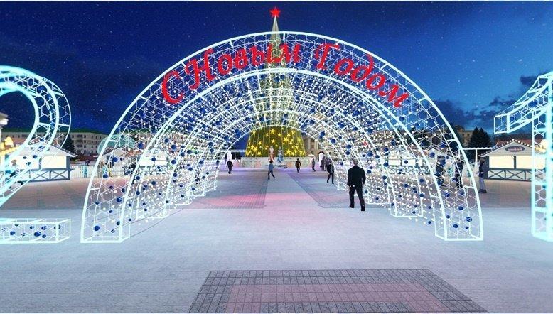 Соборную площадь Белгорода к Новому году украсит «звёздное небо», фото-4