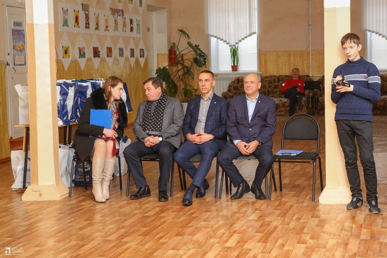 Олег Полухин и Сергей Фуглаев поздравили воспитанников валуйской школы для слабовидящих, фото-9