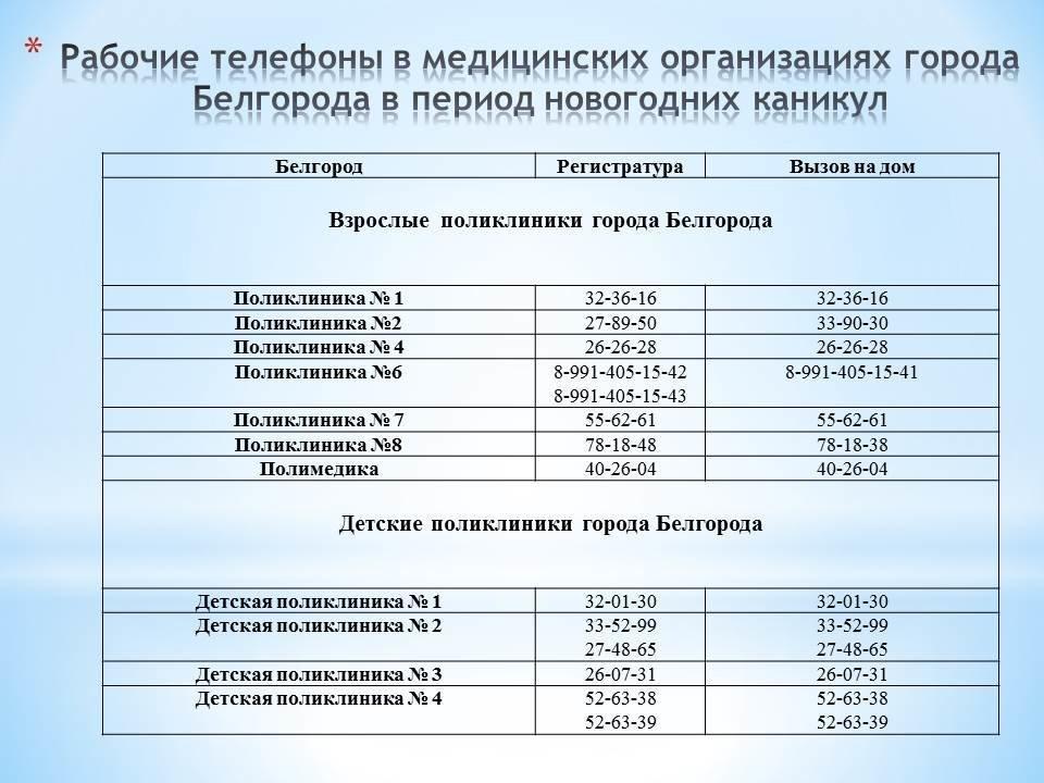Белгородцы смогут вызвать врача на дом из поликлиники на праздниках , фото-1