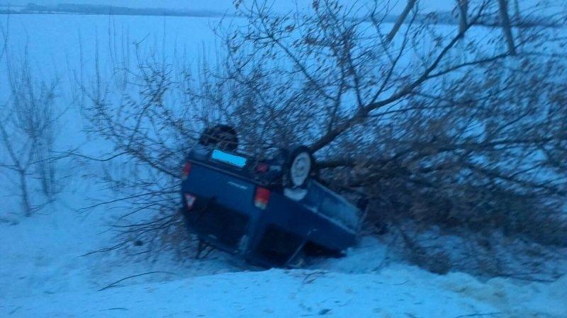 Под Белгородом автомобилист на высокой скорости врезался в дерево, фото-1