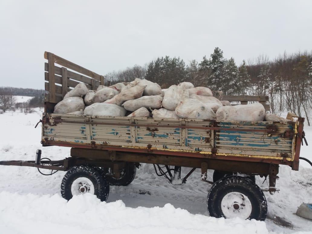 Белгородцы на тракторе попытались провезти в Россию четыре тонны мяса, фото-2