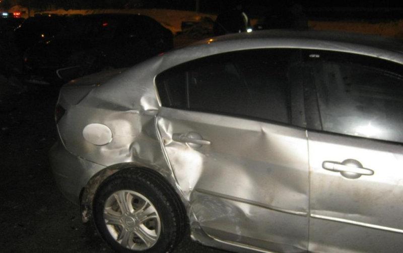 На улице Есенина произошла тройная автоавария, фото-1