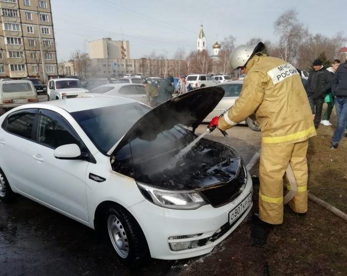 В Алексеевке сгорел «Киа Рио», фото-1