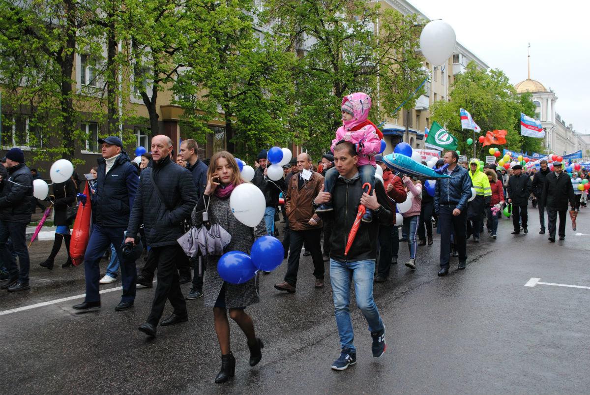 Сезон первомайских демонстраций в Белгороде открыт, фото-6